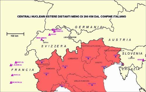 Cartina Confine Italia Svizzera.Il Nucleare In Italia Rischio E Piani D Emergenza Progetto Humus